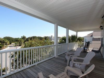 Top floor front porch - off the living area - keep an eye on the resort!