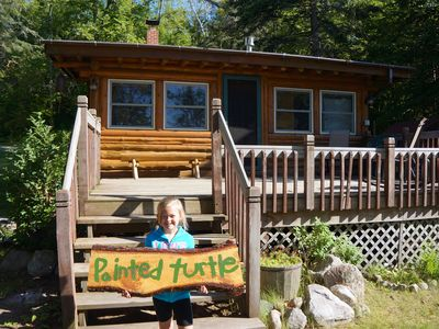 Painted Turtle is a two bedroom with a futon in the living room. Sleeps 6