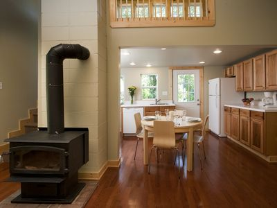 Asheville cottage rental - Wood burning stove for those cool Fall and Winter evenings