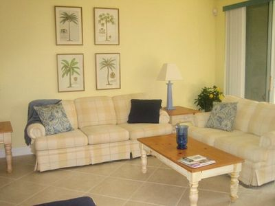 Enjoy casual Florida living in the spacious living room