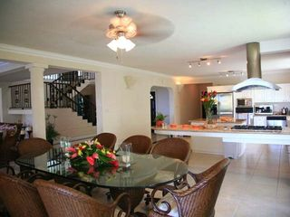 Marigot Bay villa photo - Inside dining area with kitchen