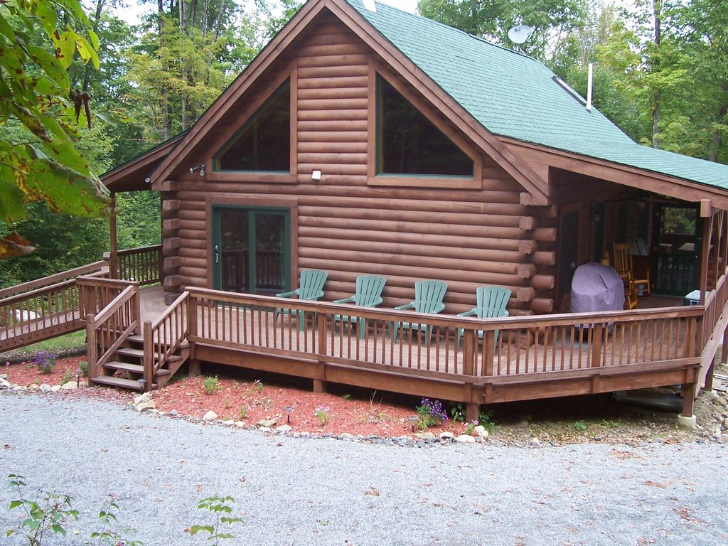 Rustic Luxury Log Cabin In The Woods Homeaway Schroon Lake