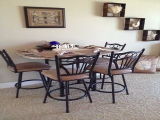 New Smyrna Beach townhome photo - Dining Table overlooking ocean also!