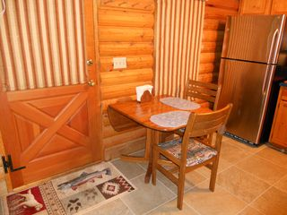 Blue River cabin photo - Dining Area, Note Drop Leaf Table, 2 Extra Chairs in Closet
