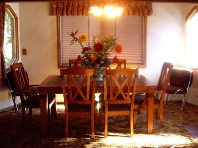 Comfortable dining room for all to enjoy