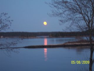 Westport Island house photo - Full Moon rising over the water