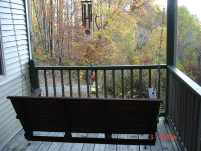 upstairs swing deck