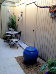 Horseshoe Bay townhome photo - Peaceful and private courtyard with Fountain off Downstairs Master Bdrm