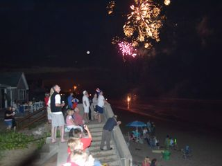 Marshfield cottage photo - 3rd of July fireworks up and down the beach. Lots of fun and color!