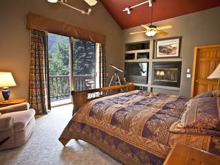 Dolores house photo - Master Bedroom is spacious, has great views and a gas starting fireplace.