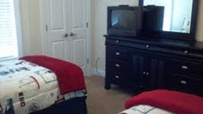 TV in twin bedroom