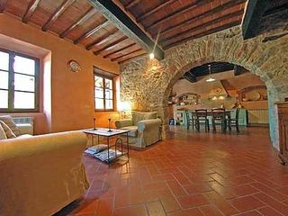 Gaiole in Chianti villa photo - Sitting Room and Kitchen
