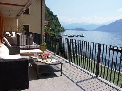 Relax on the balcony at Le Vele Argegno and enjoy the truly amazing lake views