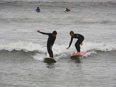 Surfing at Dohney Beach