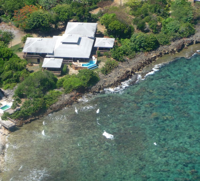 Oceanfront property; *best diving/snorkeling on the south shore*