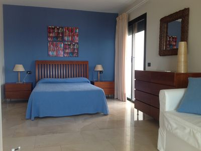 Puerto Rico villa rental - Bedroom with double bed and sofa bed