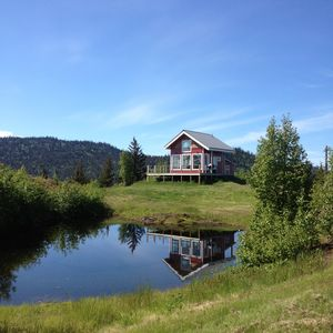 View of the Cabin and the pond