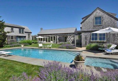Katama house rental - Beach Plum Meadows Contemporary With Guest House & Pool