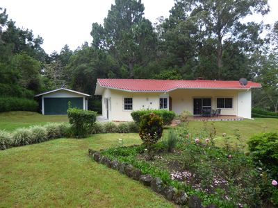 Las Plumas Holiday Home Rentals; Quetzal front view