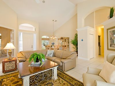 Vacation Homes in Marco Island house rental - Elegant Open Plan Great Room and Dining Area