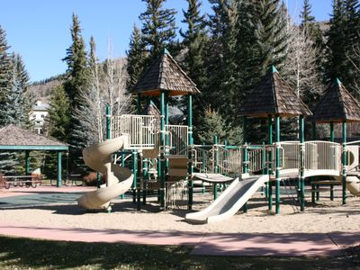 Playground just behind condominium