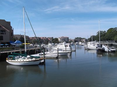 Shelter Cove Harbour offers entertainment, dining and shops. (Free Shuttle)