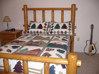 Pinetop condo photo - 3rd bedroom has cowboy theme with full size bed, TV, VCR
