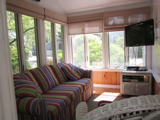 New Seabury cottage photo - Sunroom with queen pullout