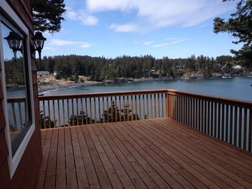 Kodiak apartment rental - A beautiful day in Kodiak! This is your view from the deck.