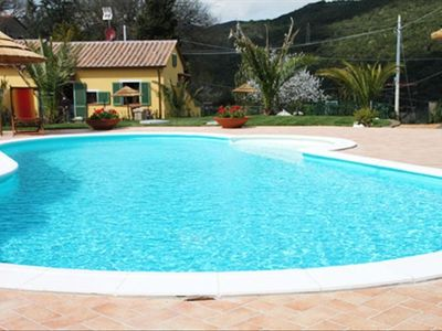 the villa and the lovely pool