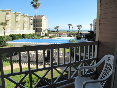 Galveston condo rental - Another view from Balcony