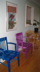 East Greenwich house photo - table and chairs for casual meals..check out the pass through from the kitchen