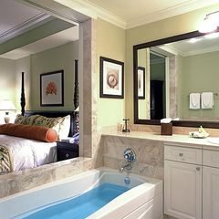 Dunmore Town condo photo - Elegantly appointed bathroom (with sliding doors to bedroom open). Jacuzzi tub.