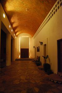 Kino Bay villa rental - The Breezeway at night.