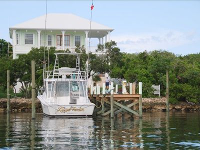 Turtle Cay House with 80' dock suitable for boats up to 40-feet.