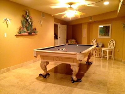 Billiard room off of the pool. Get snookered by the pool sharks!