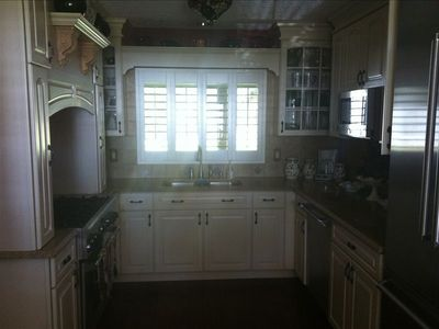 gorgeous entertaining kitchen with top of the line appliances