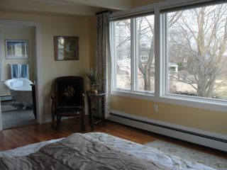 Jamestown (Conanicut Island) house photo - View #2 - Master bedroom with sweeping views of Narragansett Bay
