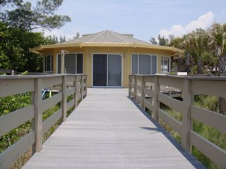 Englewood Beach house photo - Private Boardwalk from Beach to House