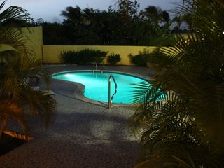 Aruba villa photo - Pool lights at night! So Romantic and peaceful! Pool never closes!