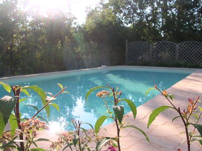 St Chamassy farmhouse rental - Heated pool