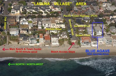 Laguna Beach apartment rental - Aerial View of Blue Agave in the 'Laguna Village'