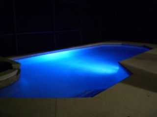 Coloured Pool Lights Have your own light show - Emerald Island house vacation rental photo