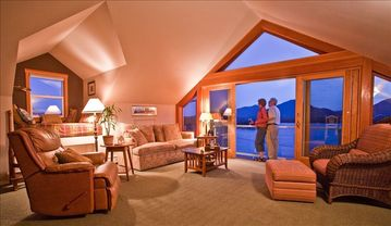 Ketchikan apartment rental - Enjoying the beautiful harbor view from the Penthouse suite.