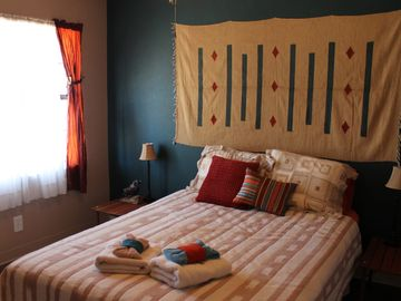 Blue Mesa at Habari House, queen size bed