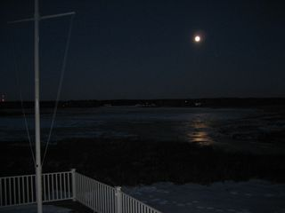 Moody Beach house photo - New Year's Eve Midnight View of Full Moon Over Wildlife Refuge