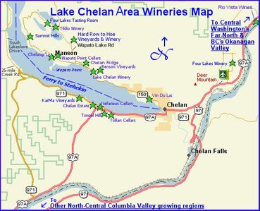 16 wineries just miles from our condo. Chelan wines are now part of the AVA.