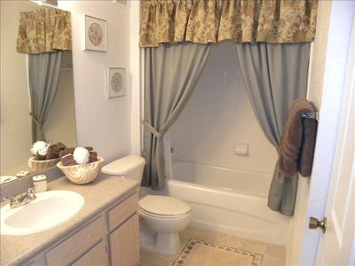 Bradenton condo rental - Master bathroom - with new tile and fresh paint.