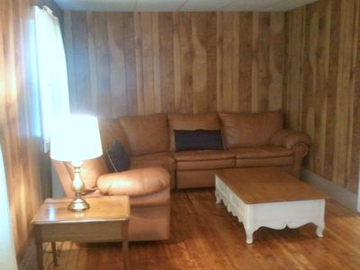 Comfy sectional sleeper sofa in the living room