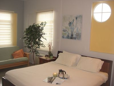 Master bedroom with futon includes all linenes and towels.